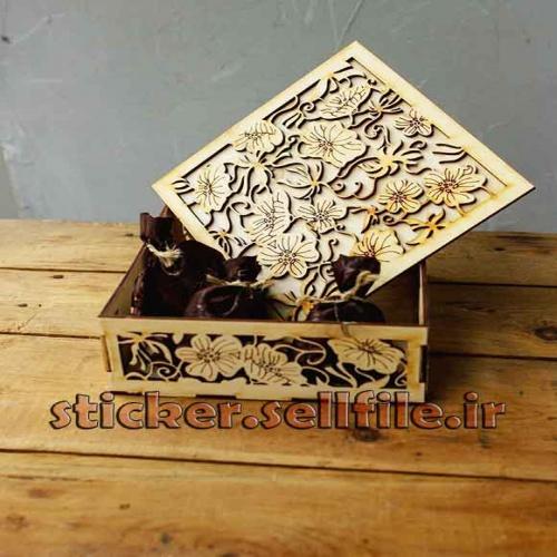 دانلود الگوی برش جعبه شکلات-کد2050